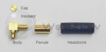 Assembly Instructions: All parts of MMCX connector