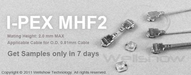 IPEX MHF2 Mini Coax Connector