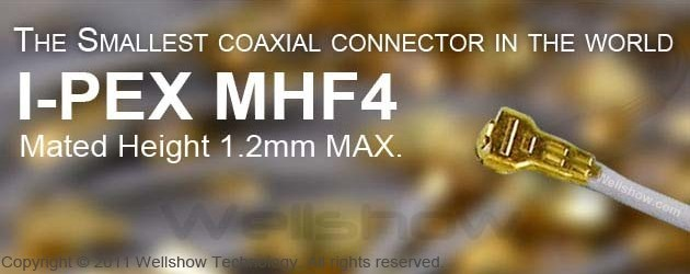 IPEX MHF4 Mini Coax Connector