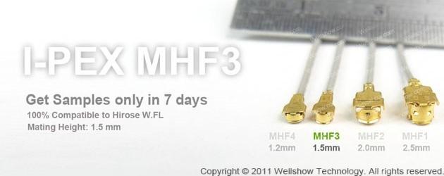 IPEX MHF3 Mini Coax Connector