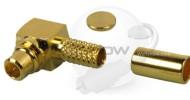 MMCX Right Angle Crimp plug For RG174, RG316, 1.13 , 1.32mm