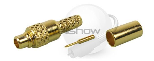 MMCX Straight Crimp Plug for RG174,RG316