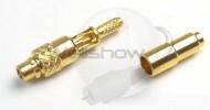 MMCX Straight Crimp Plug for 1.13, 1.32, 1.37mm