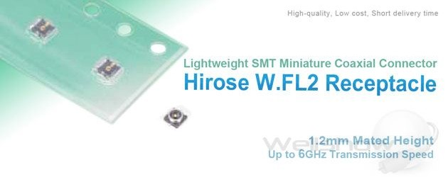 Hirose W.FL2 SMT Receptacle