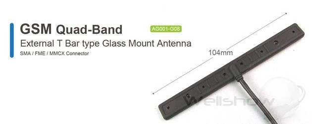 AG001 GSM Quad-Band Antenna Glass Mount