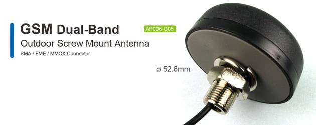 AP006 GSM Dual-Band Outdoor Antenna Screw Mount