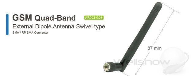 AR003 GSM Quad-Band Antenna Swivel type