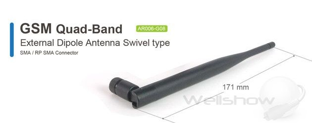 AR006 GSM Quad-Band Antenna Swivel type