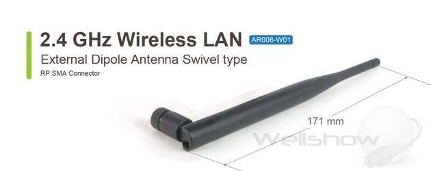 AR006 External 2.4G WiFi Antenna Swivel Type