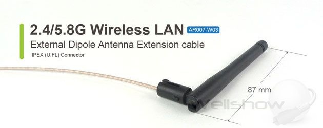 Ar007 external 2458g wifi antenna extension cable wellshow ar007 external 2458g wifi antenna extension cable sciox Image collections