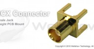 MCX connector jack straight for PCB mount