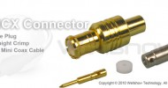 MCX connector plug straight crimp for 1.32mm, 1.32DS, 1.48mm, RG196 coax cable