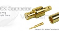 MCX connector plug straight crimp for RG58, LMR195, CFD195 coaxial cable