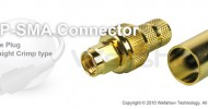 RP SMA connector male straight crimp for LMR 400, RG8/U coax cable