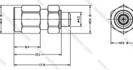 SMA Plug to MMCX Jack, Straight Adaptor