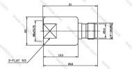 SMA Jack to FME Plug, Straight Adaptor