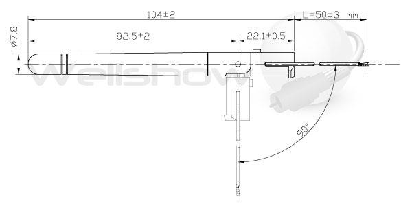 AR007 Antenna dimension