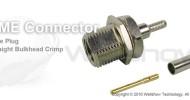 FME connector plug straight bulkhead crimp for RG174, RG316, RG188, LMR100