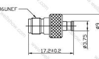 SMA Jack to MCX Plug, Straight Adaptor